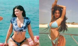 Kylie Jenner tạo trend với bikini loang màu