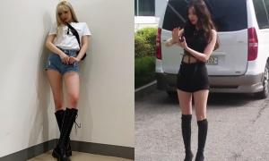Soo Jin (G)I-DLE chân nuột không kém 'thánh legging' Na Eun