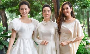 3 nàng hậu tên My diện váy tông xuyệt tông đọ sắc