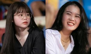 Bạn gái Văn Hậu, Quang Hải nổi bật trên khán đài