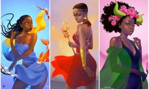 'Nữ thần da màu' phiên bản 12 cung hoàng đạo
