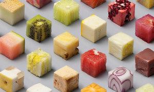 Đoán thực phẩm khi đã cắt thành khối hoàn hảo?