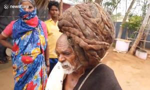 Cụ 95 tuổi có mái tóc 7,3m chưa từng cắt gội