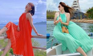 Chiếc đầm sặc sỡ mát rượi được cả chục sao Việt lăng xê