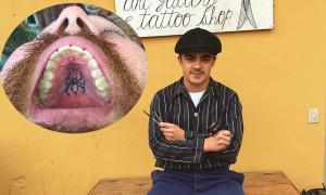 Xăm hình trong vòm miệng
