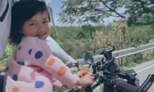Cha và con gái 4 tuổi đi phượt 71 ngày bằng xe đạp