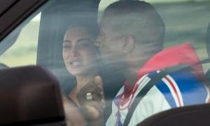 Kim bật khóc khi tranh cãi với Kanye West