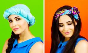 4 kiểu buộc khăn turban cực xinh cho tóc