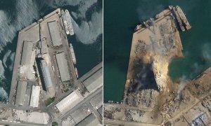 Cảng Beirut trước và sau vụ nổ
