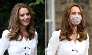 Công nương Kate tạo cơn sốt khẩu trang hoa