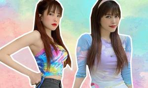 Thiều Bảo Trâm bắt trend màu loang 'chất' không kém idol Hàn