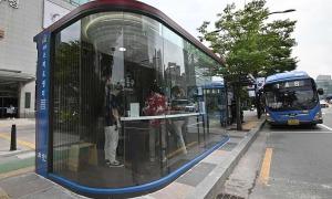 Hàn Quốc lắp nhà chờ xe bus thông minh chống nCoV