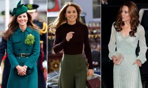 19 lần diện đồ xanh 'ngời ngời khí chất' của Công nương Kate