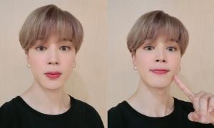 Ji Min (BTS) gây tranh cãi vì dùng filter chỉnh ảnh quá... nữ tính