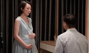 Thu Trang đóng bà bầu khổ sở trong phim mới
