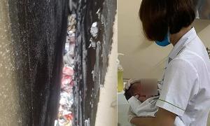 Giây phút phát hiện và cứu bé sơ sinh bị bỏ rơi trong khe tường