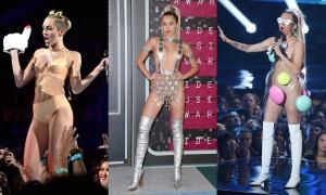 Miley Cyrus tại VMAs: Từ ngây thơ đến khoe da thịt hết cỡ