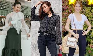 Street style ngập tràn đen trắng vẫn nổi bật của sao Việt tuần qua