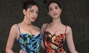 Chi Pu - Ngọc Trinh gây sốt khi đọ vòng ba với váy đôi