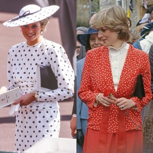 Công nương Diana khoe vẻ đài các với họa tiết chấm bi