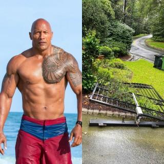 The Rock dùng cơ bắp phá tan cổng nhà vì... muộn giờ đi làm