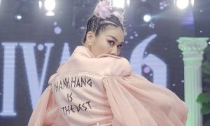 Thanh Hằng mặc áo có tuyên ngôn 'Thanh Hằng is the best'