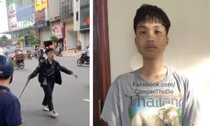 Thanh niên 17 tuổi đập phá xe máy sau va chạm với bà bầu