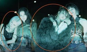 Rosé bị ép một góc bé tí, nhỏ hơn áo lông của Jennie trong poster