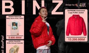Thời trang Rap Việt: Binz mặc đồ 'thường thường' nhưng đeo đồng hồ 750 triệu đồng