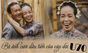 'Gái út' tặng bố mẹ bộ ảnh cưới, kỷ niệm 50 năm bên nhau