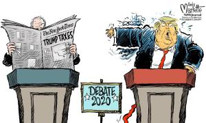 Dân Mỹ chế ảnh 'thay lời muốn nói' về tranh luận Trump - Biden