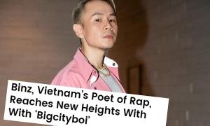 Binz được Billboard Mỹ gọi là 'thi sĩ của làng Rap Việt Nam'