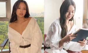 3 mỹ nhân Kpop cùng diện áo 'lả lơi', Jennie lấn át về thần thái