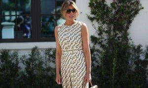 Melania diện váy Gucci đi bầu tổng thống