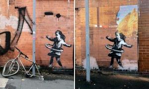 Chiếc xe đạp trong tác phẩm mới nhất của Banksy bị trộm
