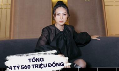 Bóc giá set đồ hơn 4,5 tỷ đồng của Ngô Thanh Vân