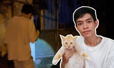 Đêm đi cứu mèo bị liệt của chàng trai 24 tuổi