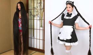 'Công chúa tóc mây Nhật Bản' 15 năm không cắt tóc