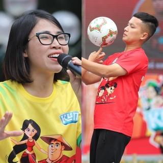 Youtuber Đỗ Kim Phúc, Thơ Nguyễn giao lưu cùng hơn 500 runner nhí