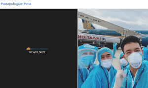 Tiếp viên Vietnam Airlines đồng loạt để hashtag #WeApologize
