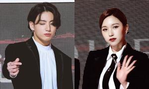 Thảm đỏ The Fact Awards: Jung Kook nháy mắt đáng yêu, Mina hóa 'ác nữ'