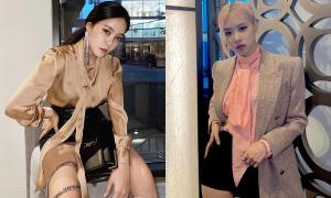 Hyo Min mặc đồ Saint Laurent quá đẹp khiến fan tranh cãi về khí chất của Rosé