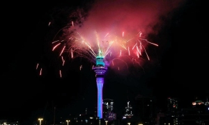 'Bữa tiệc' pháo hoa đón năm mới ở New Zealand