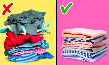 Mẹo gấp quần áo cực đơn giản giúp tủ đồ sáng láng