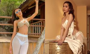 Chân dài Việt rộ mốt quần 'mặc như không' nhìn thấu nội y