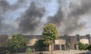 Thành phố bị bao trùm bởi khói từ lò hỏa táng nạn nhân Covid-19