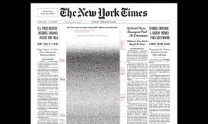 Trang nhất báo Mỹ kín 500.000 chấm đen gây sốc