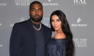 Kanye West lần đầu xuất hiện từ khi Kim đệ đơn ly hôn