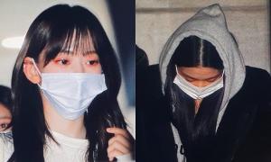 IZONE đi làm về: Won Young mệt mỏi, Sakura nhuộm tóc đen