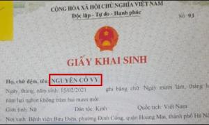 Chuyện hot nhất ngày 4/3: Em bé chào đời với tên khai sinh 'Nguyễn Cô Vy'